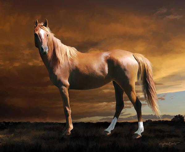 Horse Poster featuring the digital art 5. Fancy by Sigrid Van Dort