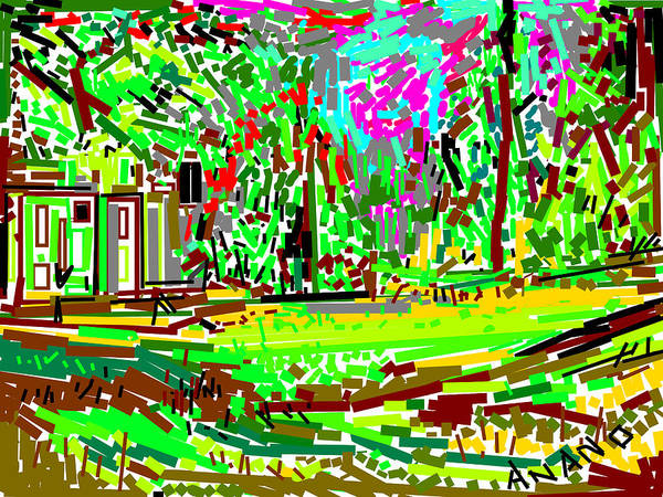 Landscape-2 Poster featuring the digital art Landscape-2 by Anand Swaroop Manchiraju