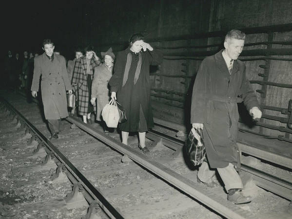 retro Images Archive Poster featuring the photograph Nine Dead In Tube Disaster by Retro Images Archive