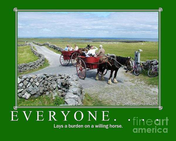 Horse And Trap Poster featuring the photograph Old Irish Saying's by Joe Cashin