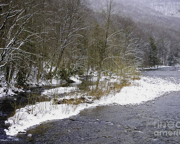 Williams River Poster featuring the photograph Spring Snow Williams River by Thomas R Fletcher