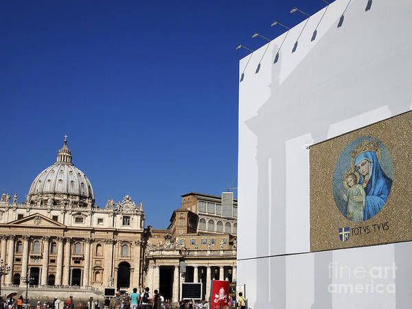 Worth Poster featuring the photograph St Peter's Square. Vatican City. Rome. Lazio. Italy. Europe by Bernard Jaubert
