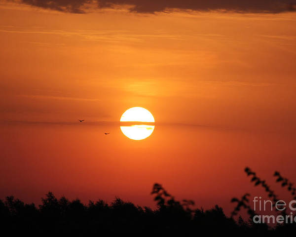 Sunrise Poster featuring the photograph Sunrise by Four Hands Art
