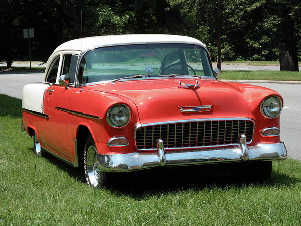 55 Poster featuring the photograph 55 Chevy by Frank Romeo