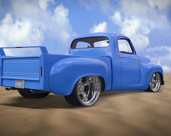 Studebaker Truck Poster featuring the photograph 56 Studebaker Truck by Mike McGlothlen