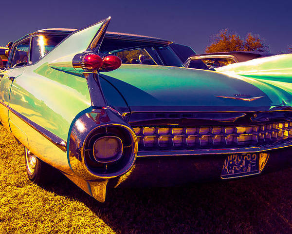 Classic Car Poster featuring the photograph '59cadillac Fins by Daniel Enwright