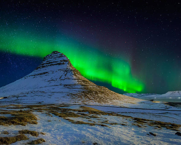 Photography Poster featuring the photograph Aurora Borealis Or Northern Lights by Panoramic Images