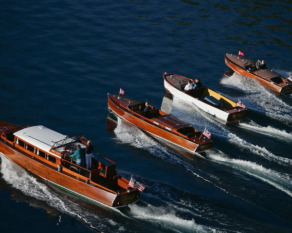 Riva Poster featuring the photograph Classic Woodies by Steven Lapkin