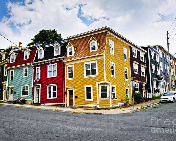 Houses Poster featuring the photograph Colorful Houses In St. John's Newfoundland by Elena Elisseeva