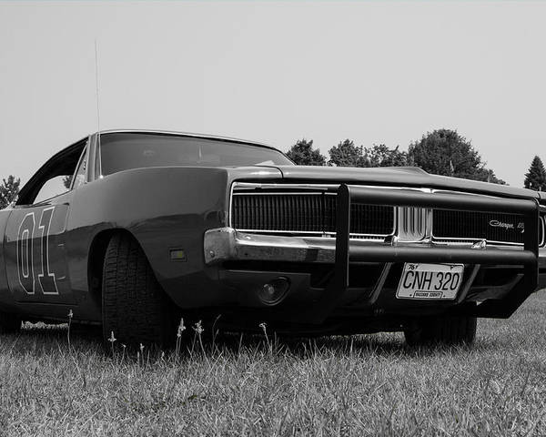 69 Charger Poster Featuring The Photograph Dodge By Mark Maloney