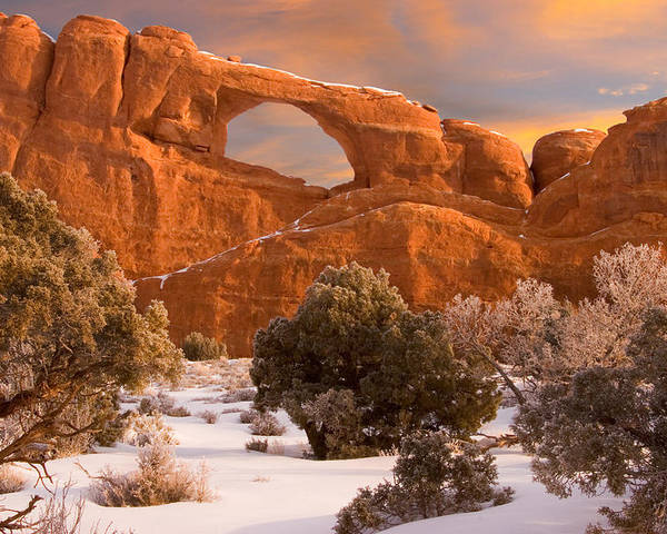 Skyline Arch Poster featuring the photograph Arches National Park by Utah Images
