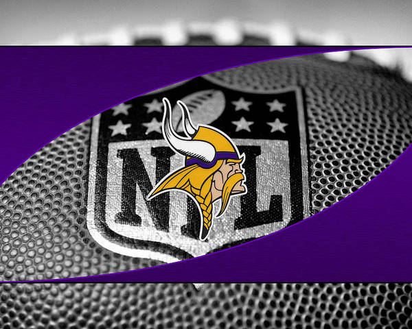 Vikings Poster featuring the photograph Minnesota Vikings by Joe Hamilton