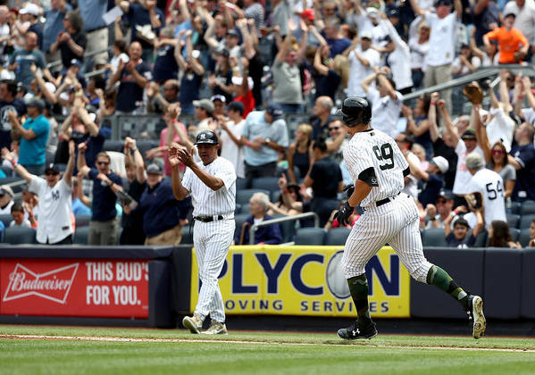 People Poster featuring the photograph Oakland Athletics v New York Yankees by Elsa