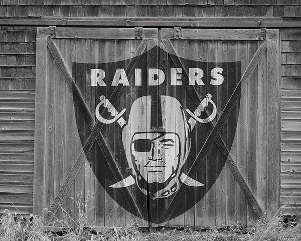 Raiders Poster featuring the photograph Oakland Raiders by Joe Hamilton