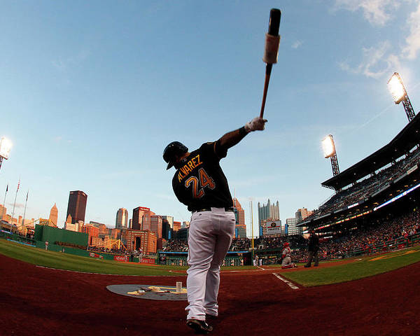 Professional Sport Poster featuring the photograph St Louis Cardinals V Pittsburgh Pirates by Justin K. Aller