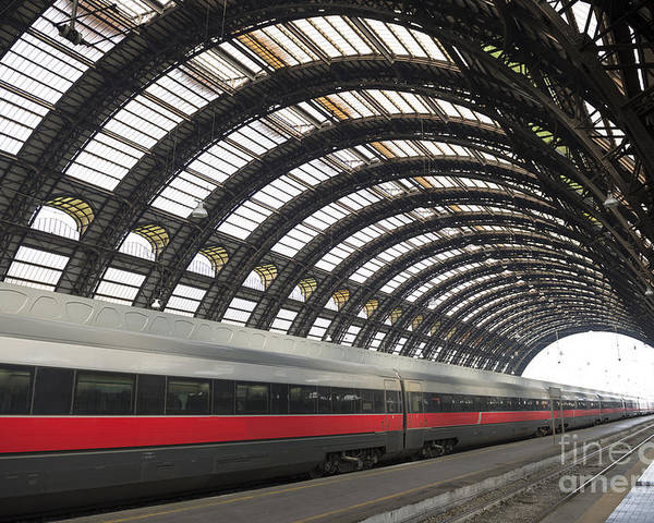 Train Station Poster featuring the photograph Train Station by Mats Silvan