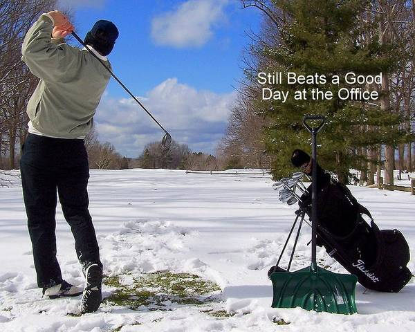 Country Club Poster featuring the photograph A Bad Day On The Golf Course by Frozen in Time Fine Art Photography