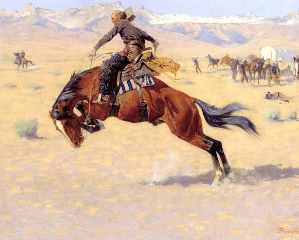 A Cold Morning On The Range Poster featuring the digital art A Cold Morning On The Range by Frederic Remington
