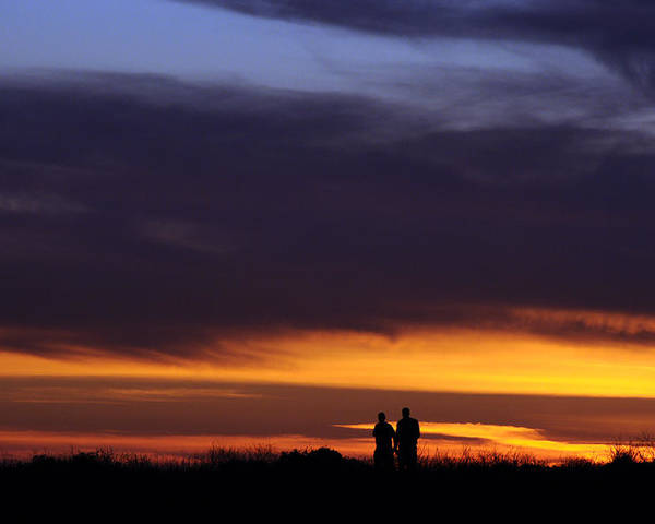 Evening Poster featuring the photograph A Couple On The Coast by Scott Lenhart