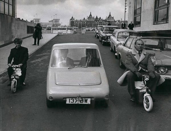 retro Images Archive Poster featuring the photograph A Demonstration Of Electric Vehicle In London by Retro Images Archive
