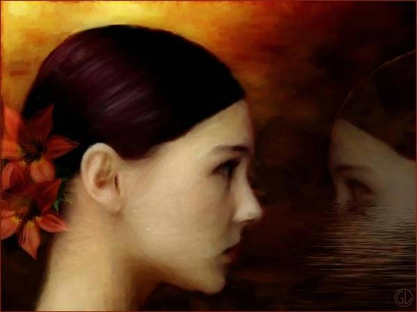 Woman Poster featuring the digital art A Glimpse Inside by Gun Legler