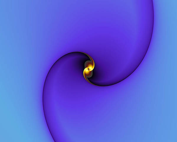 Abstract Poster featuring the digital art A Little Bit Of Gold by Mark Eggleston
