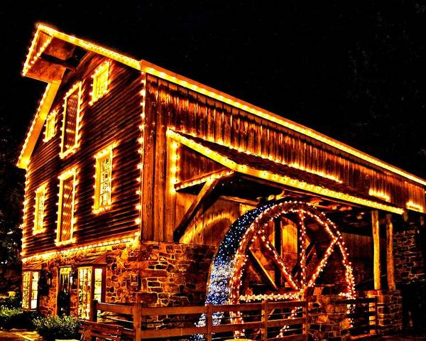 New Hope Poster featuring the photograph A Mill In Lights by DJ Florek