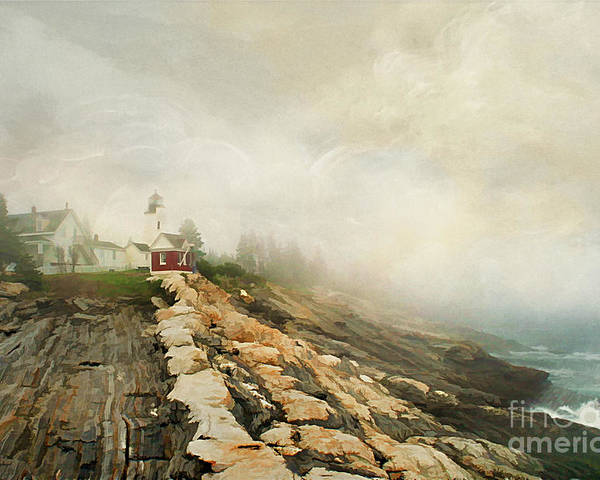 America Poster featuring the photograph A Morning In Maine 2 by Darren Fisher