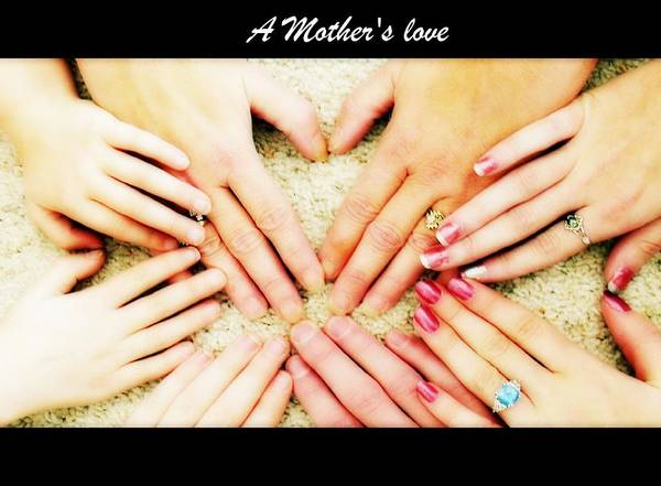 Hands Poster featuring the photograph A Mother's Love by Michelle Frizzell-Thompson