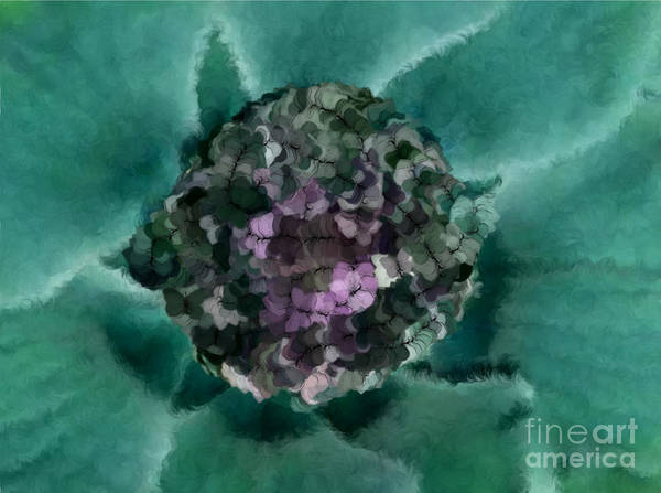 Flowers Poster featuring the digital art A Sky Full Of Lighters Teal Purple by Holley Jacobs