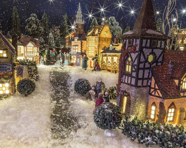 Christmas Poster featuring the photograph A Snowy Evening by Caitlyn Grasso