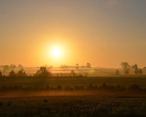 Spring Poster featuring the photograph A Spring Morning At Gettysburg by Bill Cannon