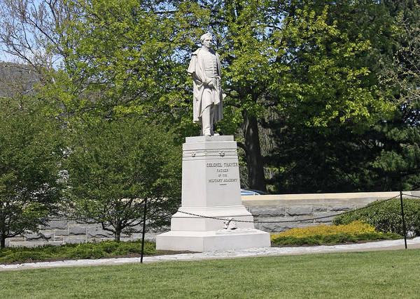 Military Statue Poster featuring the photograph A Statue Of Colonel Thayer by James Connor