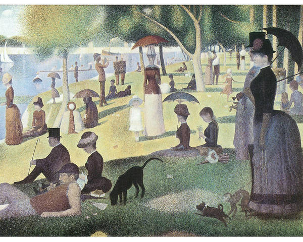 George-pierre Seurat Poster featuring the painting A Sunday Afternoon On The Island Of La Grande Jatte by George-Pierre Seurat
