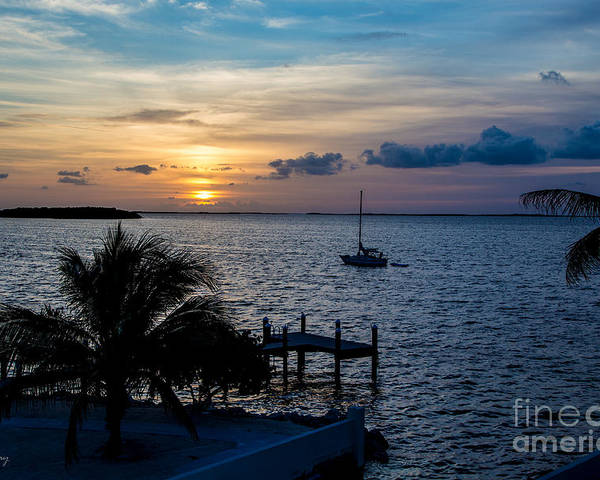 Sunsets With Sailboats Poster featuring the photograph A Tranquil Conquering Of The Night by Rene Triay Photography