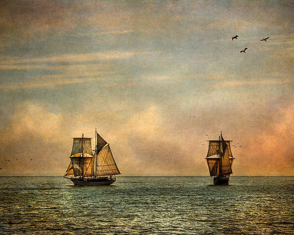 Tall Ships Poster featuring the photograph A Vision I Dream by Dale Kincaid