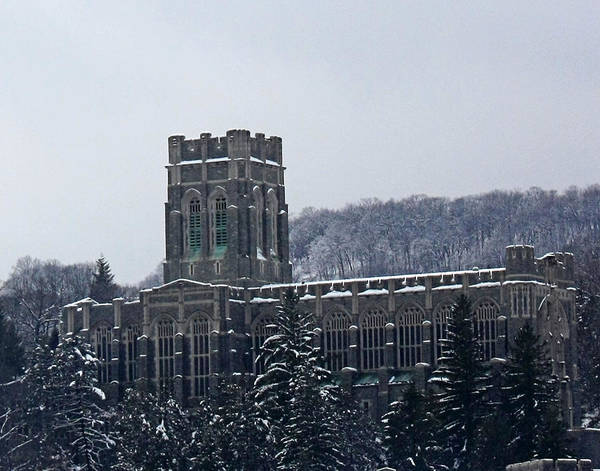 Chapel Poster featuring the photograph A Wintery View Of The Cadet Chapel At The United States Military Academy by James Connor