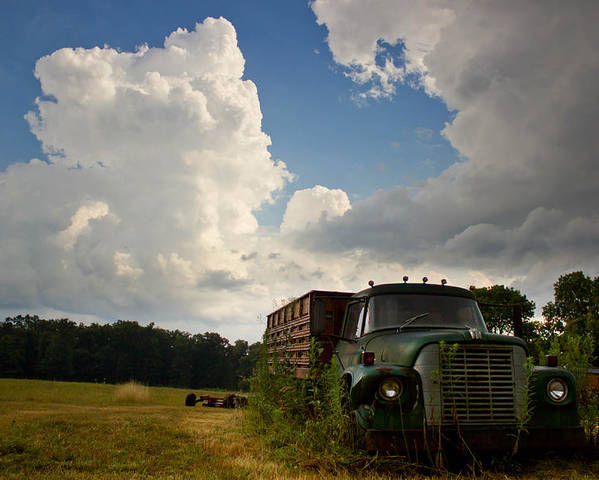 Abandoned Truck Poster featuring the photograph Abandoned by Aaron Greuel