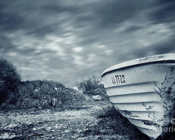 Abandon Poster featuring the photograph Abandoned Boat by Stelios Kleanthous