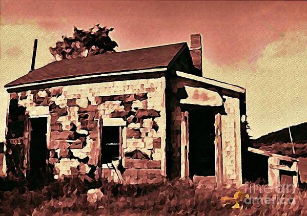 House Poster featuring the digital art Abandoned Cape Breton House by John Malone