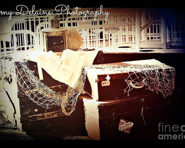 Poster featuring the photograph Abandoned Luggage For Good by Amy Delaine