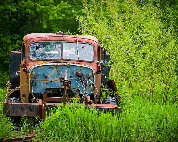 3scape Photos Poster featuring the photograph Abandoned Truck In Rural Michigan by Adam Romanowicz