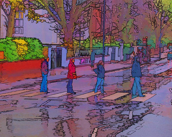 Abbey Road Album Poster featuring the photograph Abbey Road Crossing by Chris Thaxter