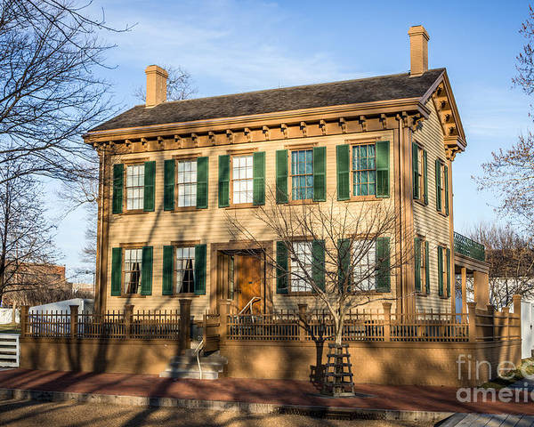 Abraham Poster featuring the photograph Abraham Lincoln Home In Springfield Illinois by Paul Velgos