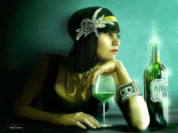 Absinthe Poster featuring the digital art Absinthe by Jason Longstreet