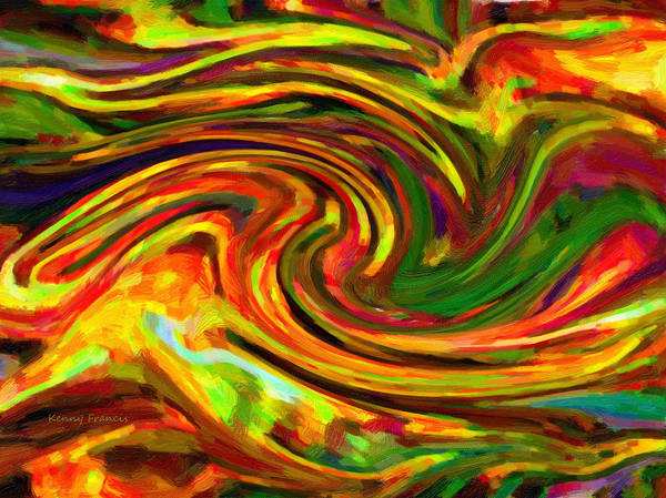Kenny Francis Poster featuring the digital art Abstract 17 by Kenny Francis