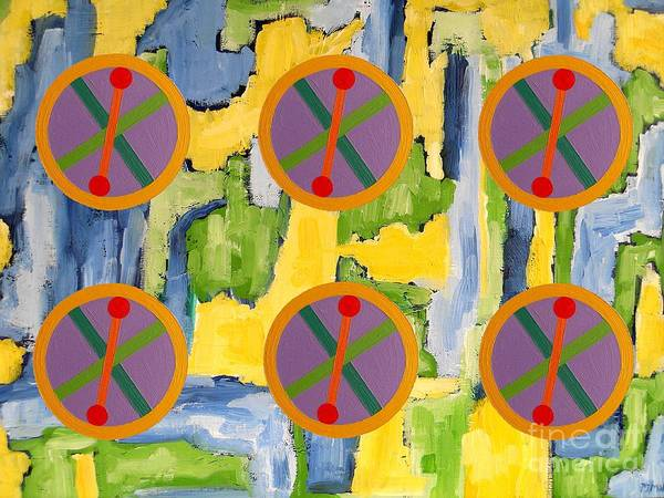 Celtic Poster featuring the painting Abstract 82 by Patrick J Murphy