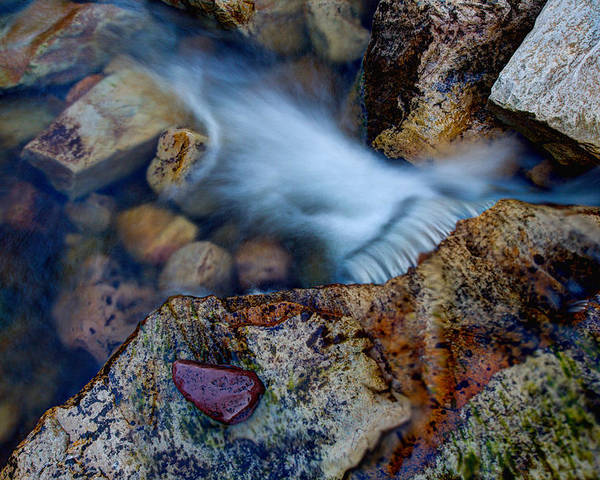 Outdoor Poster featuring the photograph Abstract Falls by Chad Dutson