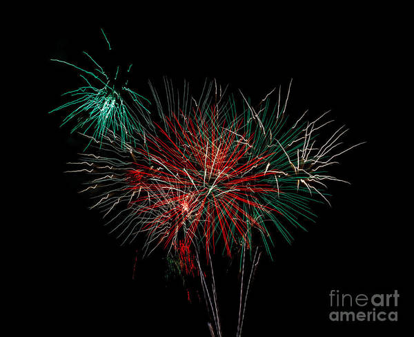 Fireworks Poster featuring the photograph Abstract Fireworks by Robert Bales