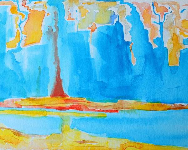 Abstract Watercolor Poster featuring the painting Abstract II by Patricia Awapara